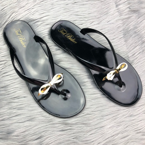 40743fb98354f2 Ted Baker Heebei Black Jelly Flip Flop Sandals. M 5b37ca7be944bab1b97ad43e